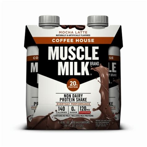 These familiar and delicious flavors are. Ralphs - Muscle Milk Mocha Latte Coffee House Non Dairy Protein Shake (3 Pack), 4 bottles / 11 fl oz