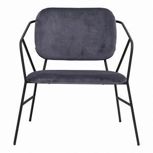 Chaise Velours Gris : house doctor klever chaise lounge velours gris bf0302 ~ Teatrodelosmanantiales.com Idées de Décoration