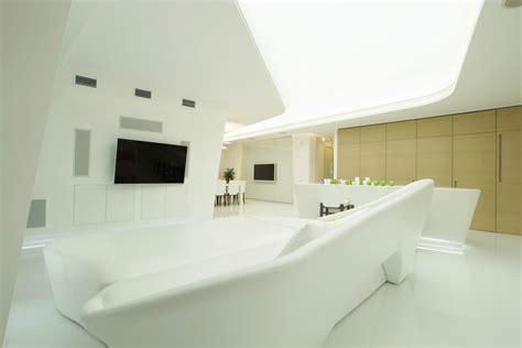 futuristic penthouse with toilets