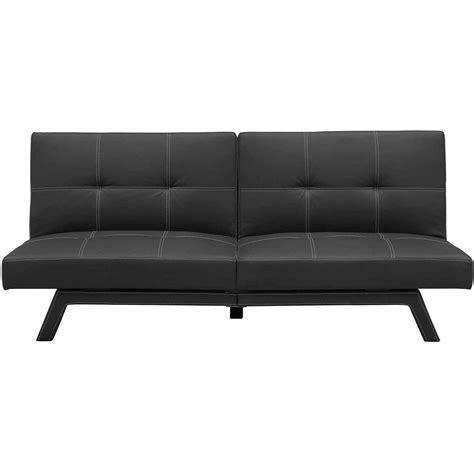 black leather sofa futon black leather futon