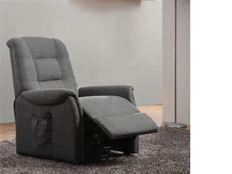 canapé cuir relax electrique fauteuil releveur électrique en tissu 2 coloris nerudo