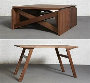 transform this coffee table into a classy place to dine in With coffee table transforms to dining table