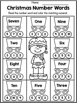 christmas kindergarten math worksheets common core