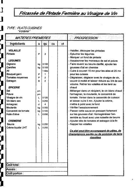 750g fiche de cuisine fiche technique recette cuisine