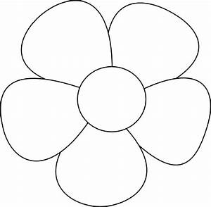 Simple Flowers Clipart Black And White | Clipart Panda ...