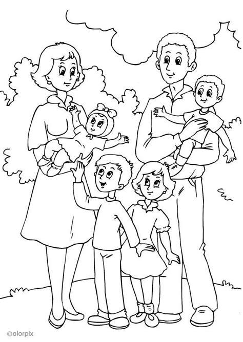 Malvorlage 4 Mutters Neue Familie  Ausmalbild 25992