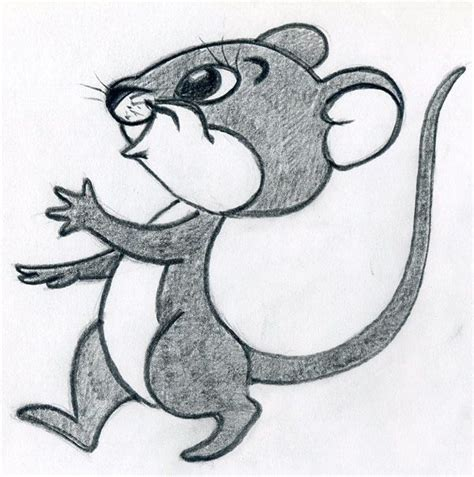 draw cartoon mouse   enjoy  pencil