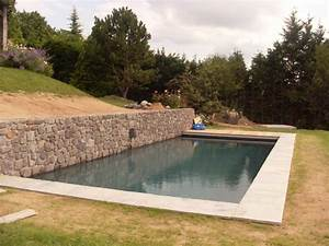 Amenagement Autour Piscine Photos : piscine avec mur en pierre qd59 jornalagora ~ Premium-room.com Idées de Décoration
