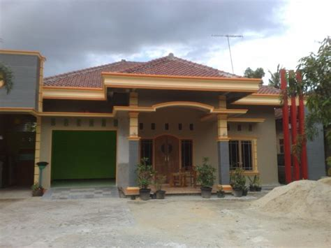desain rumah kampung modern   populer desain rumah