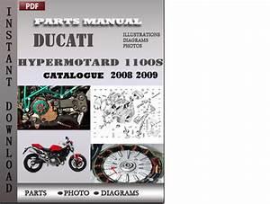 Ducati Hypermotard 1100s 2008 2009 Parts Manual Catalog