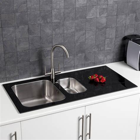 sauber  bowl kitchen sink  white glass drainer