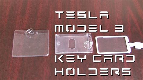 We did not find results for: Tesla Model 3 - Key Card Holders - YouTube