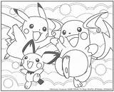 Pichu Pikachu Coloring Pages Pokemon Sheet Sheets Sleeping Getdrawings Getcoloringpages sketch template