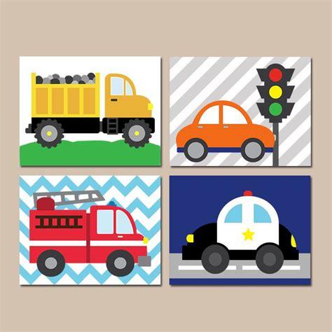Transportation Wall Art, City Vehicles Theme, Cars Nursery