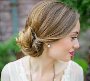 Coiffure Blonde Mi Long : 80 id es pour le chignon mariage ~ Melissatoandfro.com Idées de Décoration