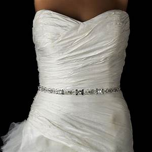 glitzy pearl and crystal beaded wedding dress belt sash With beaded belt for wedding dress