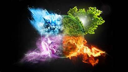 Earth Fire Water Air Elements Wallpapers Baltana