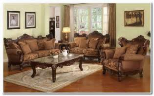 marsala traditional leather living room collection design