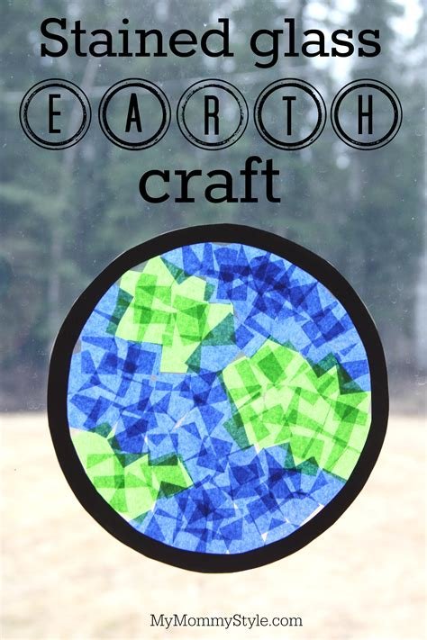 stained glass planet earth craft  mommy style