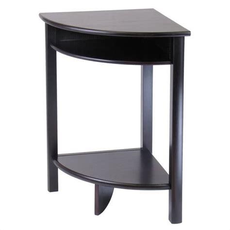 corner accent table winsome liso corner espresso accent table ebay