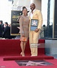 Actor and radio host Steve Harvey poses on his star on the ...