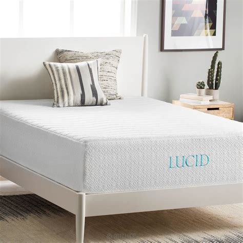 lucid 14 memory foam mattress lucid 14 inch plush memory foam mattress review