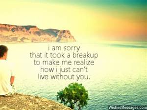 I am sorry, that it took a breakup to make me realize how ...