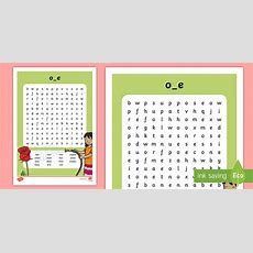 Split 'oe' Digraph Differentiated Word Search  Vowel Diagraph