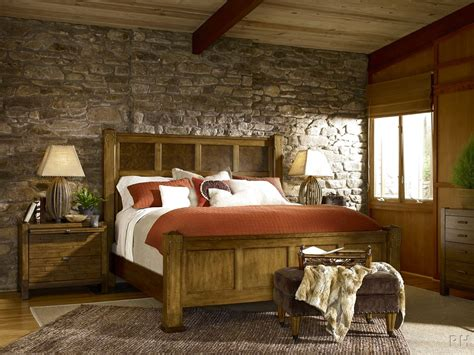Rustic Master Bedroom Ideas With King Size Bed And Nice