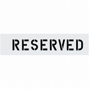 reserved parking lot stencil 3quot letters hd supply With parking lot letter stencils
