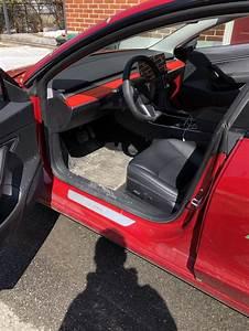 Model 3 with matte red dashboard wrap – Tesla Model 3 Wiki