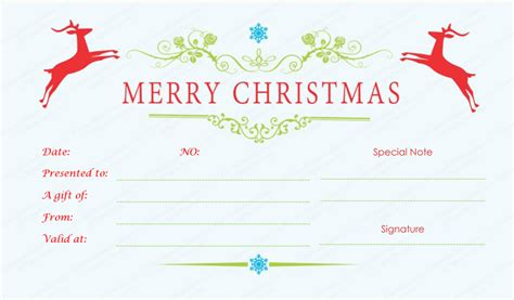 Double Reindeer Christmas Gift Certificate Template Kawaii Shop Bts Client Gifts Branded Sports For 9 Year Olds Cheap Return Birthday Party Of 4 Old Girlfriend Age 16 The Holy Spirit Received At Baptism Clothes Uk