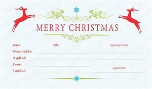 double reindeer christmas gift certificate template With homemade christmas gift certificates templates