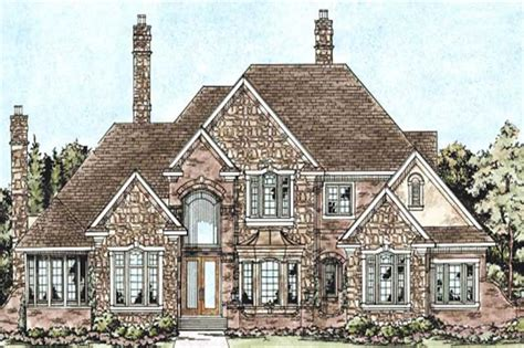 house plan    bedroom  sq ft cape  european home tpc db
