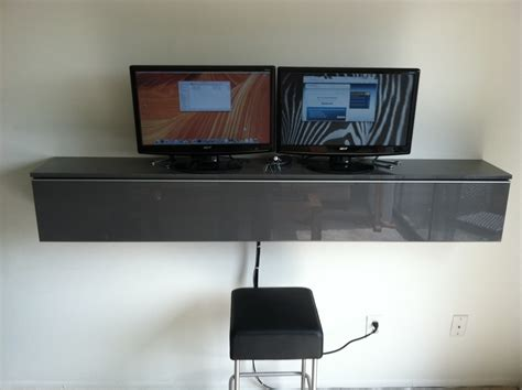 Wall Mounted Desk Ikea Hack by Workstation Wallmount Ikea Mac Mini Win Ikea