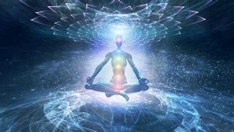 meditation leading   enlightenment  nirvana chakras opening stock footage video