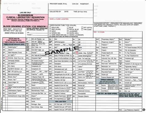 LabCorp Test Form | Mungfali