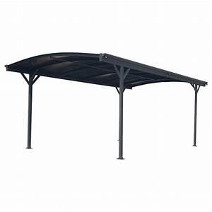 Carport En Aluminium : carport en alu anthracite 3x4 3m toit polycarbonate 6mm ~ Maxctalentgroup.com Avis de Voitures