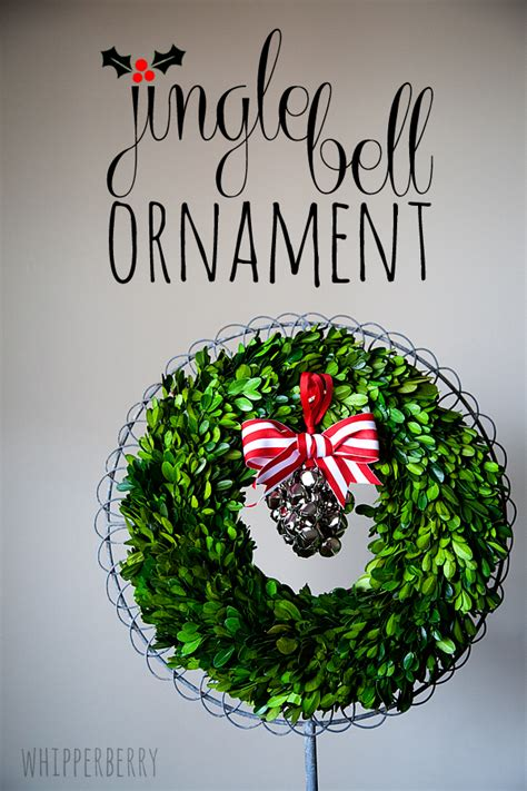 diy jingle bell ornaments whipperberry