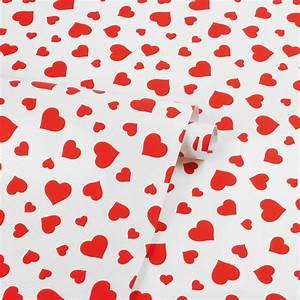 Papier Cadeau Blanc : papier cadeau kraft blanc coeurs rouges laval europe ~ Teatrodelosmanantiales.com Idées de Décoration