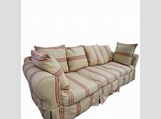 90% OFF Beige with Red Stripe ThreeCushion Slipcover