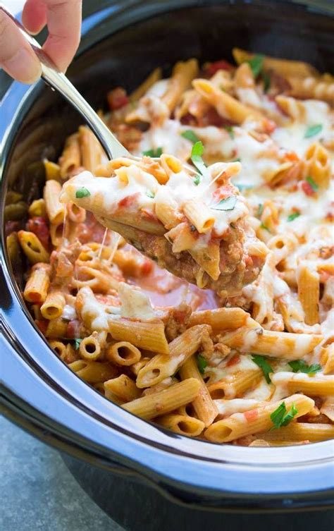 It's a sub, not the star. This Slow Cooker Baked Ziti is made with ground turkey and whole wheat pasta. The pasta co ...