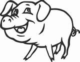 Pig Coloring Pages Clip sketch template