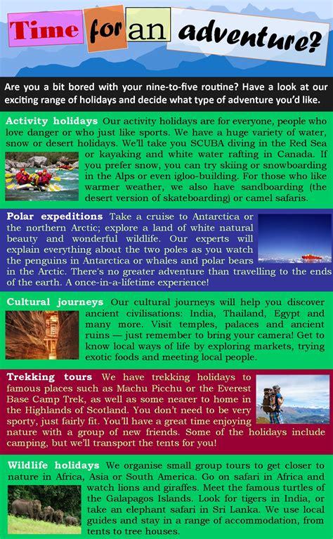 adventure travel learnenglish teens british council