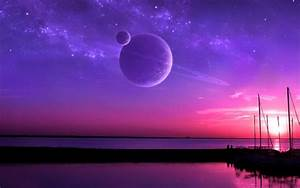 Purple, And, Pink, Sunset, Wallpaper