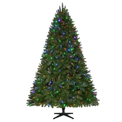home accents holiday 75 frasier fir home accents 7 5 ft pre lit led nevada pe pvc set artificial