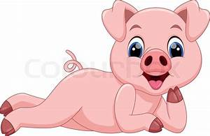 Cartoon pigs are cute and adorable | Stock Vector | Colourbox