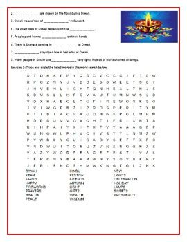 diwali reading comprehension worksheet  reading