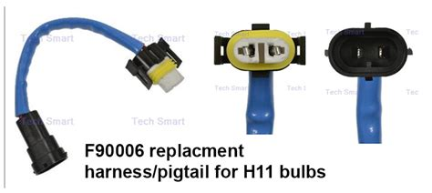 Replacement Headlight Connector For H11 Bulbs