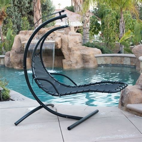 Outdoor Products Sunnydaze Floating Hanging Chaise Lounge